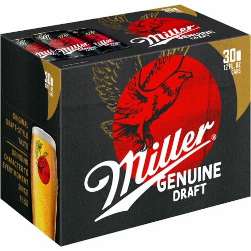 Miller Genuine Draft® American Lager Beer Perspective: front