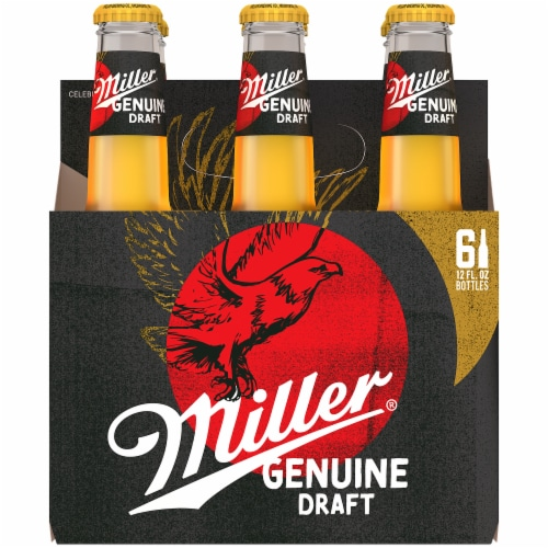 Miller Genuine Draft American Lager Beer (6 Pack) Perspective: front