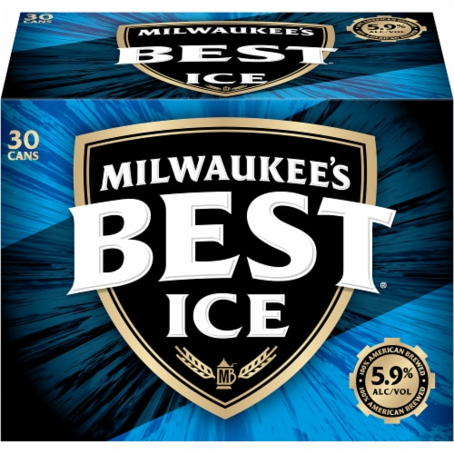 Milwaukee's Best Ice American Lager Beer 30 Cans Perspective: front