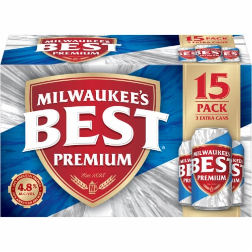 Milwaukee's Best Premium American Lager Beer 15 Cans Perspective: front