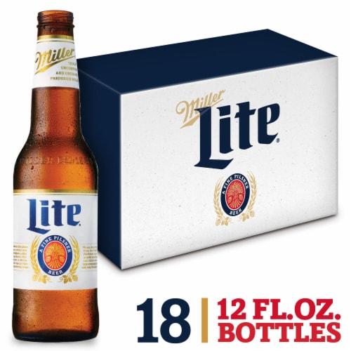 Miller Lite American Light Lager Beer Perspective: front