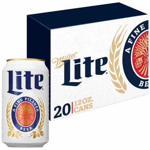 Miller Lite American Lager Beer Perspective: front