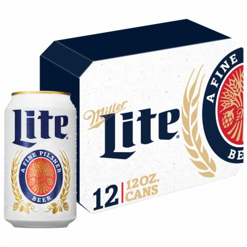 Miller Lite American Light Lager Beer Perspective: front