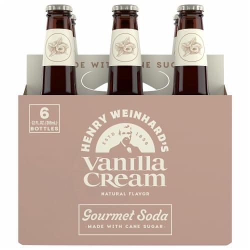 Henry Weinhard's Vanilla Cream Soda 6 Pack Bottles Perspective: front