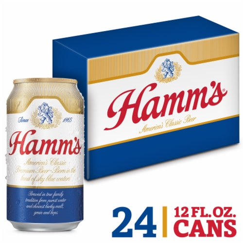 Hamm's America's Classic Premium Lager Beer 24 Count Perspective: front