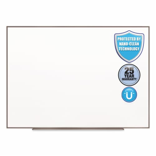 Quartet Fusion Nano-Clean Magnetic Whiteboard, 36 X 24, Silver Frame NA3624F Perspective: front