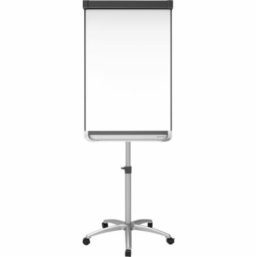 Quartet Prestige 2 Mobile Presentation Easel, 3 Ft X 2 Ft, Silver/White ECM32P2 Perspective: front