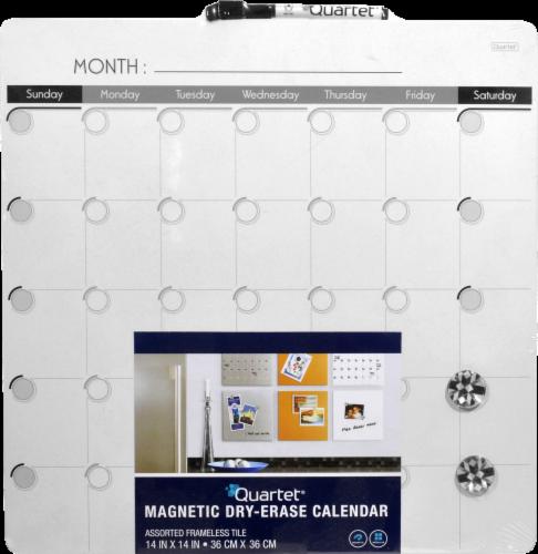 Quartet Magnetic Dry Erase Calendar Perspective: front