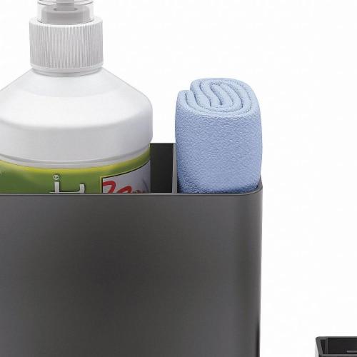 Quartet Spray Cleaner Caddy,3inD,Black,Plastic  85376 Perspective: front