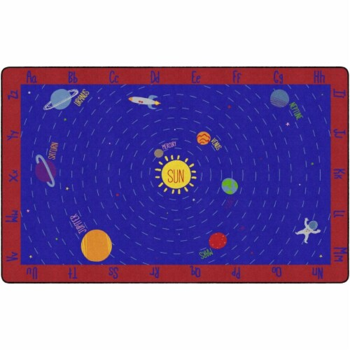 Flagship Carpets FX1521-44FS 7 ft. 6 in. x 12 in. Out of This World ABCs Carpet Perspective: front