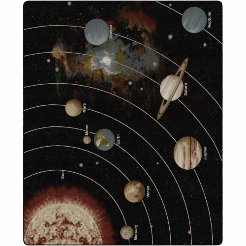 Flagship Carpets FM175-58A 10 ft. 9 in. x 13 ft. 2 in. The Solar System Orbit Tranquility Rug Perspective: front
