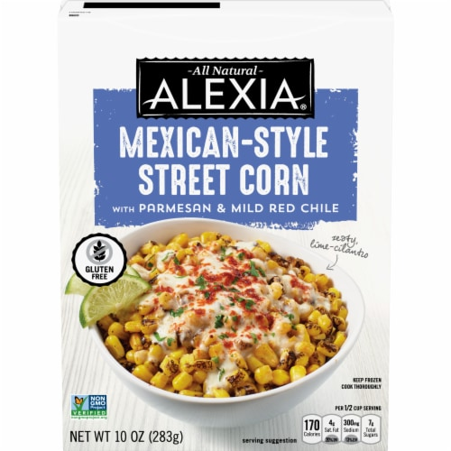 Alexia Mexican Style Street Corn with Guajillo Chile Frozen Vegetables Perspective: front