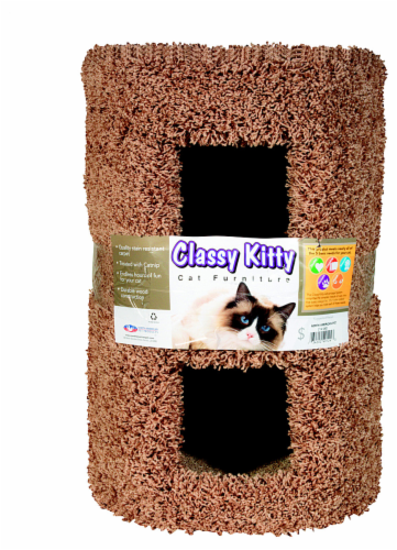 Classy Kitty 2 Story Cat Condo Perspective: front