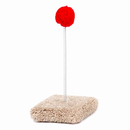 North American Pet Cat Toy on Spring Round Base Perspective: front