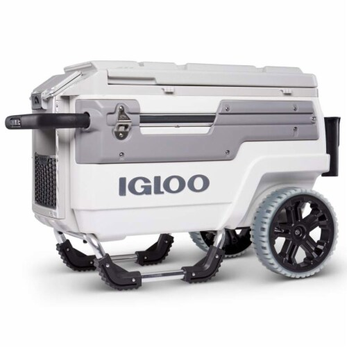 Igloo 00034492 Trailmate Marine Grade 70 Quart Insulated Ice Chest Cooler, White Perspective: front