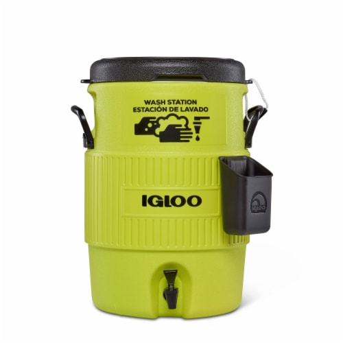 Igloo Portable 5 Gallon Camping Sports Station Water Dispenser Jug with Spigot Perspective: front