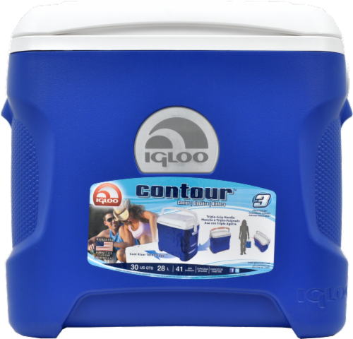 Igloo® Contour™ Blue Cooler Perspective: front