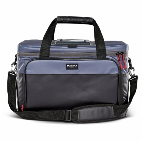 Igloo Coast Durable and Compact Insulated 36 Can Cooler Duffel Bag, Dark Blue Perspective: front