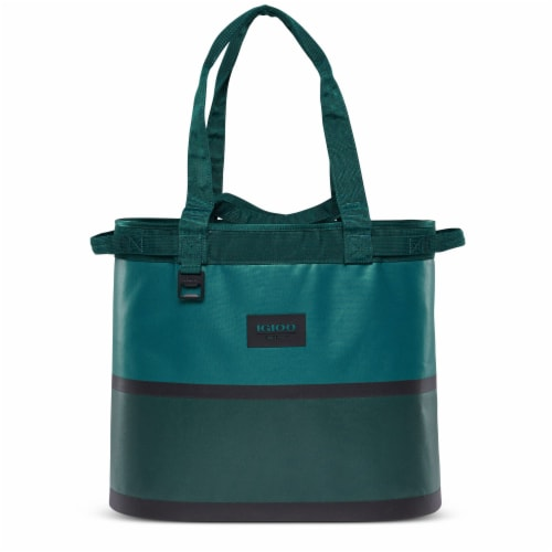 Igloo Reactor Portable 56 Can Soft Sided Insulated Cinch Cooler Tote Bag, Teal Perspective: front