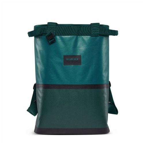 Igloo Reactor Portable 46 Can Soft Insulated Cinch Backpack Cooler Bag, Teal Perspective: front