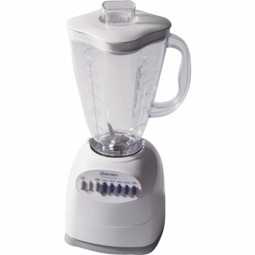 Oster® White 10-Speed Blender Perspective: front
