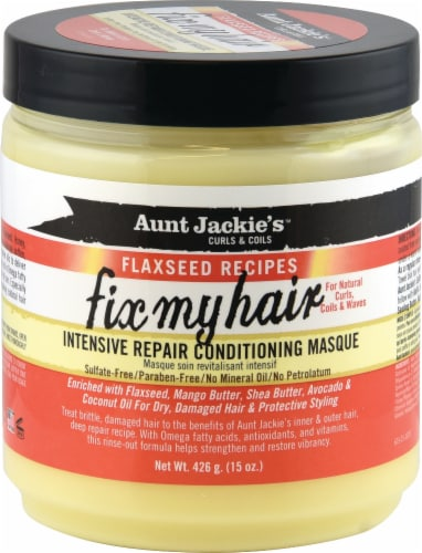 Aunt Jackies Flaxseed Instant Repair Condition Masque Perspective: front