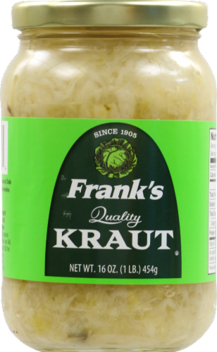 Frank's Quality Shreded Sauerkraut Perspective: front