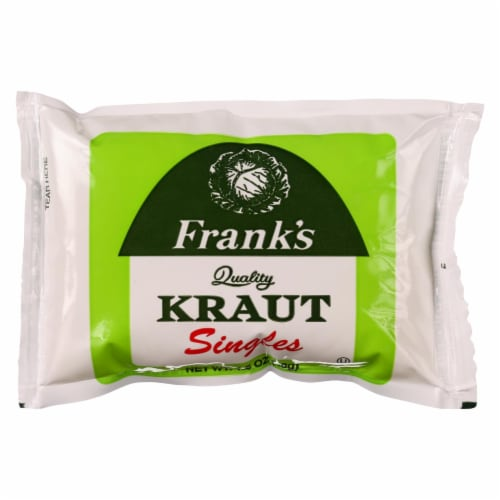 Frank's Quality Kraut Singles Perspective: front