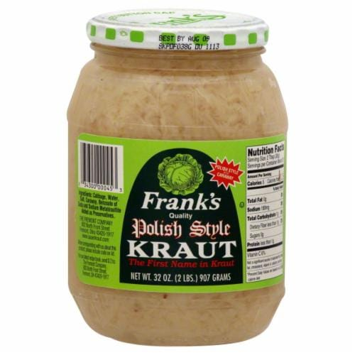 Frank's Polish Style Kraut Perspective: front