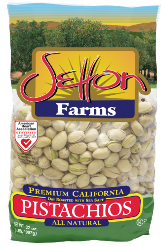 Setton Farms Dry Roasted with Sea Salt Pistachios Perspective: front