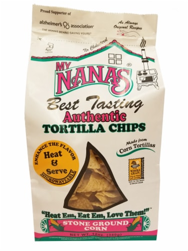 My Nana's Best Tasting Authentic Tortilla Chips Perspective: front