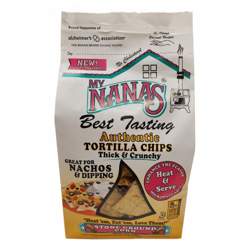 My Nana's Best Tasting Stone Ground Corn Thick & Crunchy Tortilla Chips Perspective: front