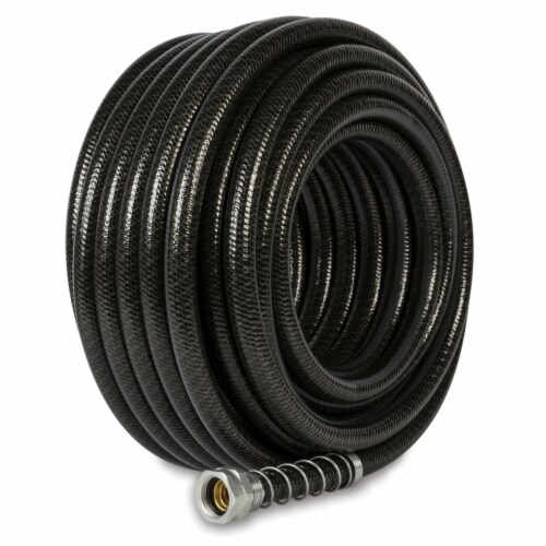 Gilmour Hydrostrong Plus 5/8 in. Dia. x 75 ft. L Heavy-Duty Black PVC Garden Hose - Case Of: Perspective: front