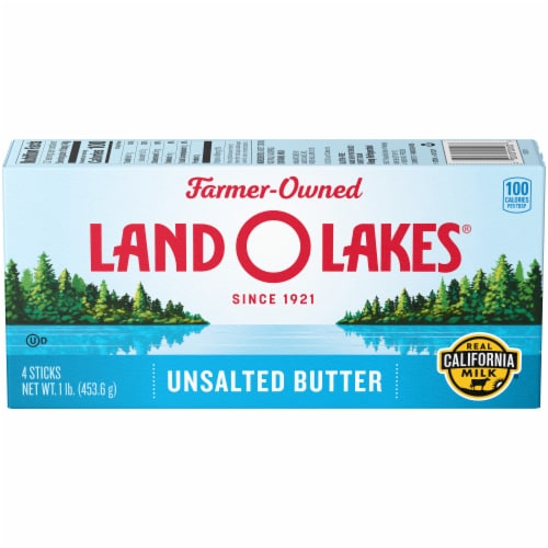 Land O' Lakes Unsalted Butter Sticks Perspective: front