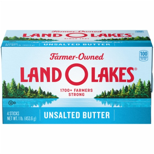 Land O' Lakes® Unsalted Butter Sticks Perspective: front