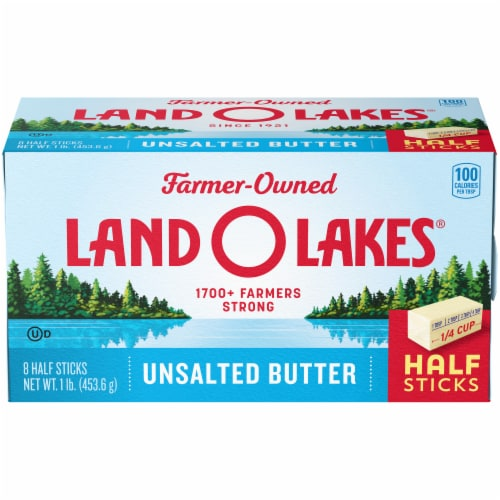 Land O' Lakes Half Stick Unsalted Butter Perspective: front