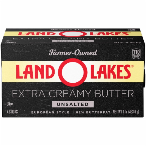 Land O' Lakes Extra Creamy Unsalted Butter Perspective: front
