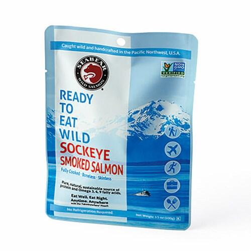 Seabear Ready to Eat Wild Alaskan Smoked Sockeye Salmon Perspective: front