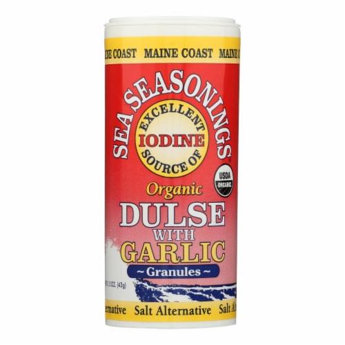 Maine Coast Organic Sea Seasonings - Dulse Granules with Garlic - 1.5 oz Shaker - Pack of 3 Perspective: front