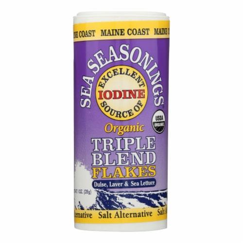 Maine Coast Sea Seasonings - Triple Blend Flakes - 1 oz Shaker - Pack of 3 Perspective: front