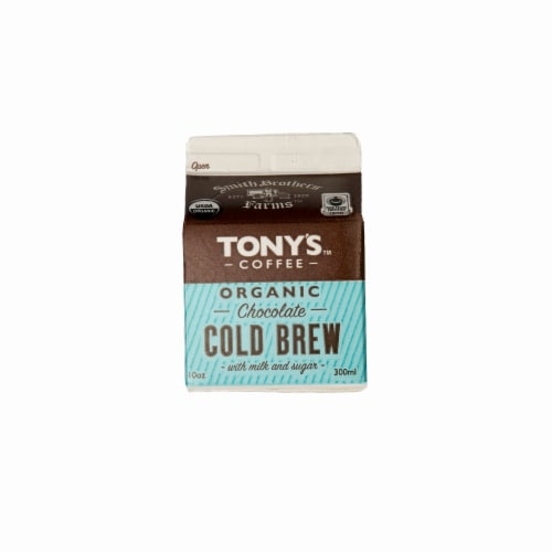Tony's Coffee Organic Chocolate Cold Brew Perspective: front