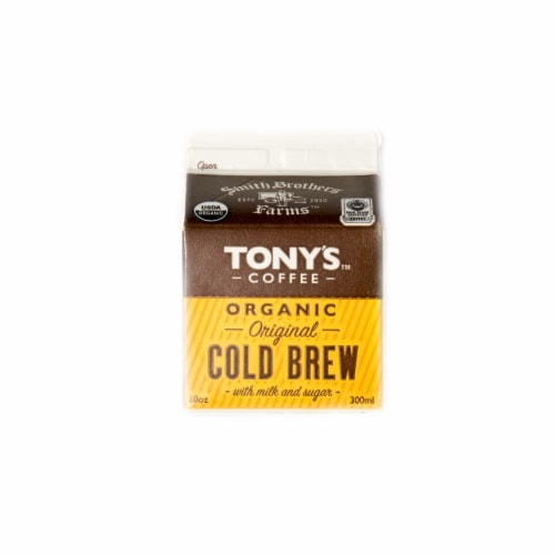 Tony's Coffee Organic Original Cold Brew Perspective: front