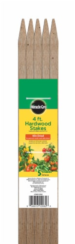 Miracle-Gro 4-Foot Hardwood Stakes Perspective: front
