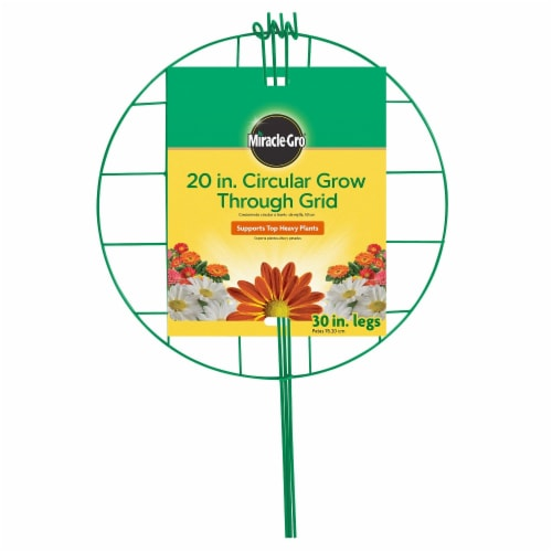 Miracle-Gro Circular Grow-Through Grid - Green Perspective: front