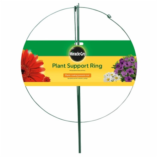 Miracle-Gro Plant Support Ring - Green Perspective: front