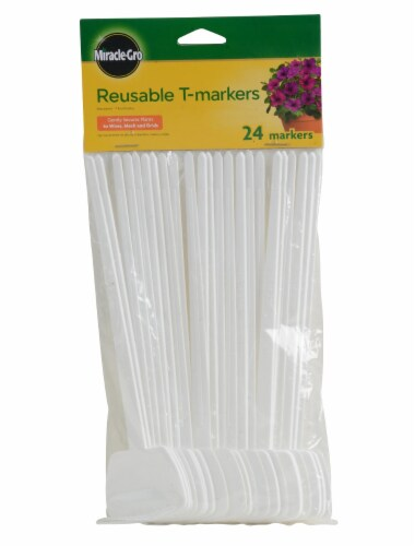 Miracle-Gro Reusable T-Markers - White Perspective: front