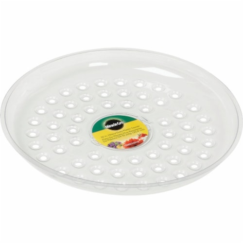 Miracle-Gro 10 In. Clear Plastic Flower Pot Saucer SMGCVSH10 Perspective: front