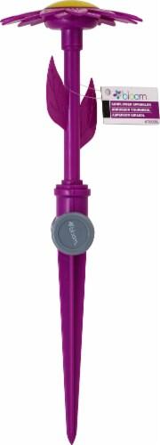 Bond 5025434 13 in. Bloom Sunflower Sprinkler, Green, Blue & Purple Perspective: front
