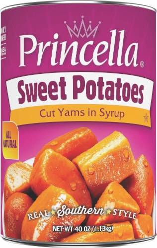 Princella Cut Sweet Potatoes in Syrup Perspective: front