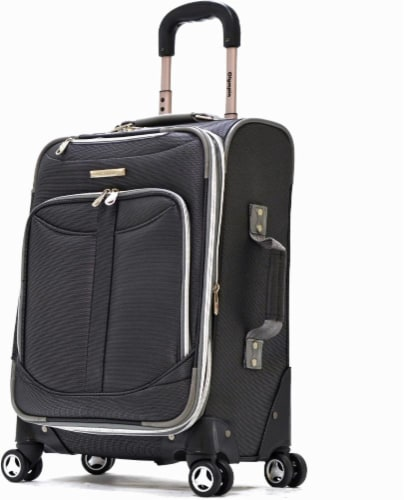 Olympia Tuscany 21-Inch Spinner Carry-On - Black Perspective: front